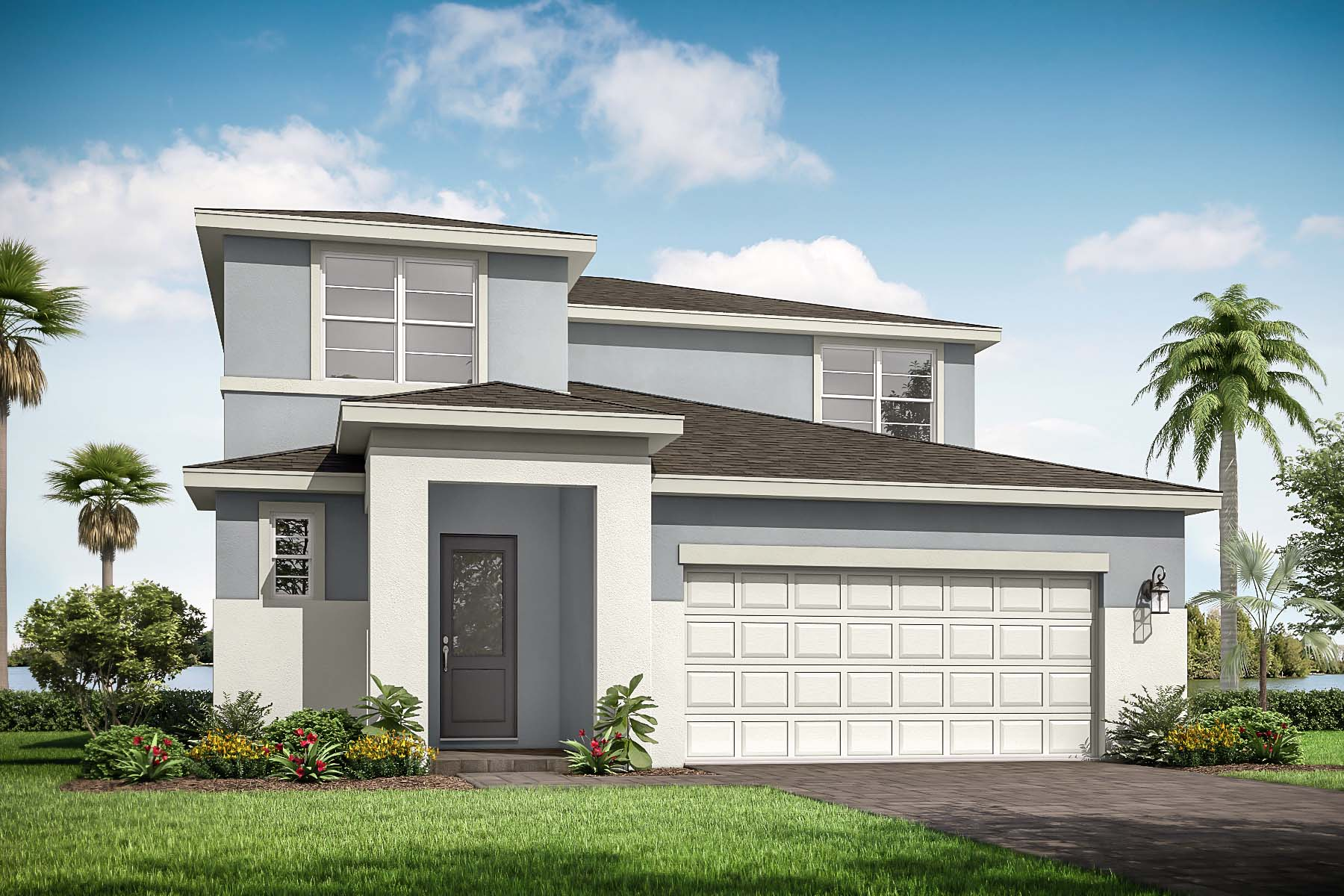 Danbury Plan Elevation Front Danbury Transitional at Tradition - Manderlie in Port St. Lucie Florida by Mattamy Homes