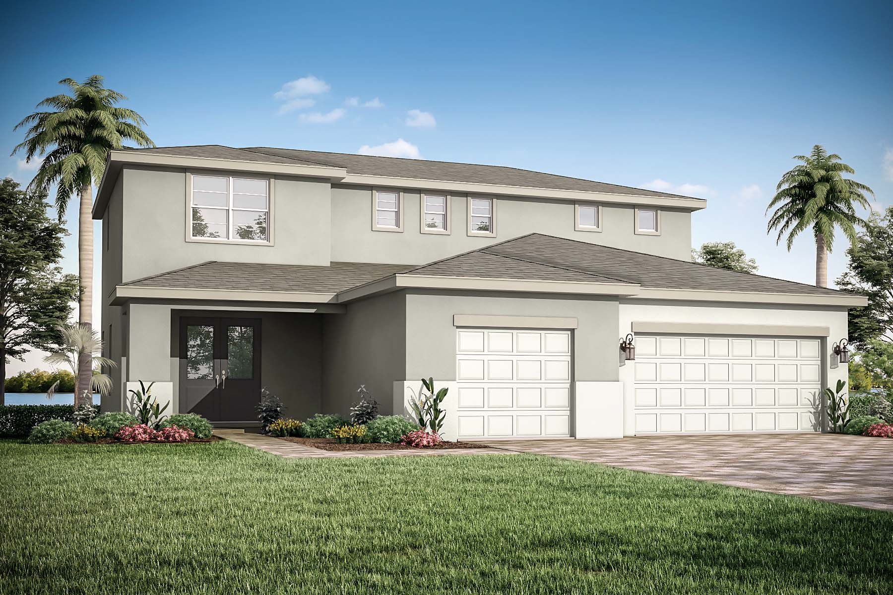 Golden Plan Elevation Front at Tradition - Manderlie in Port St. Lucie Florida by Mattamy Homes