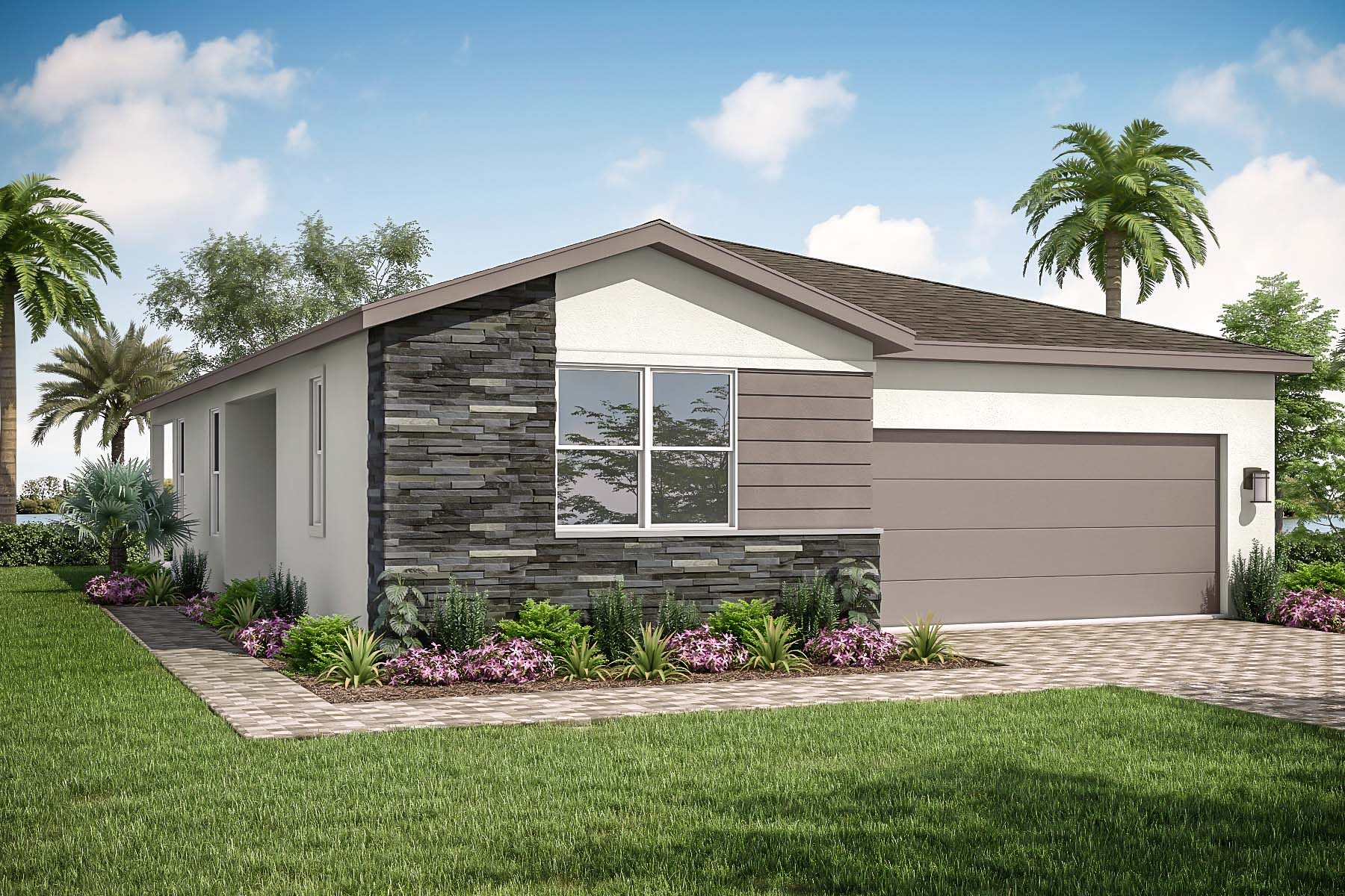 Lilac Plan Elevation Front at Tradition - Manderlie in Port St. Lucie Florida by Mattamy Homes