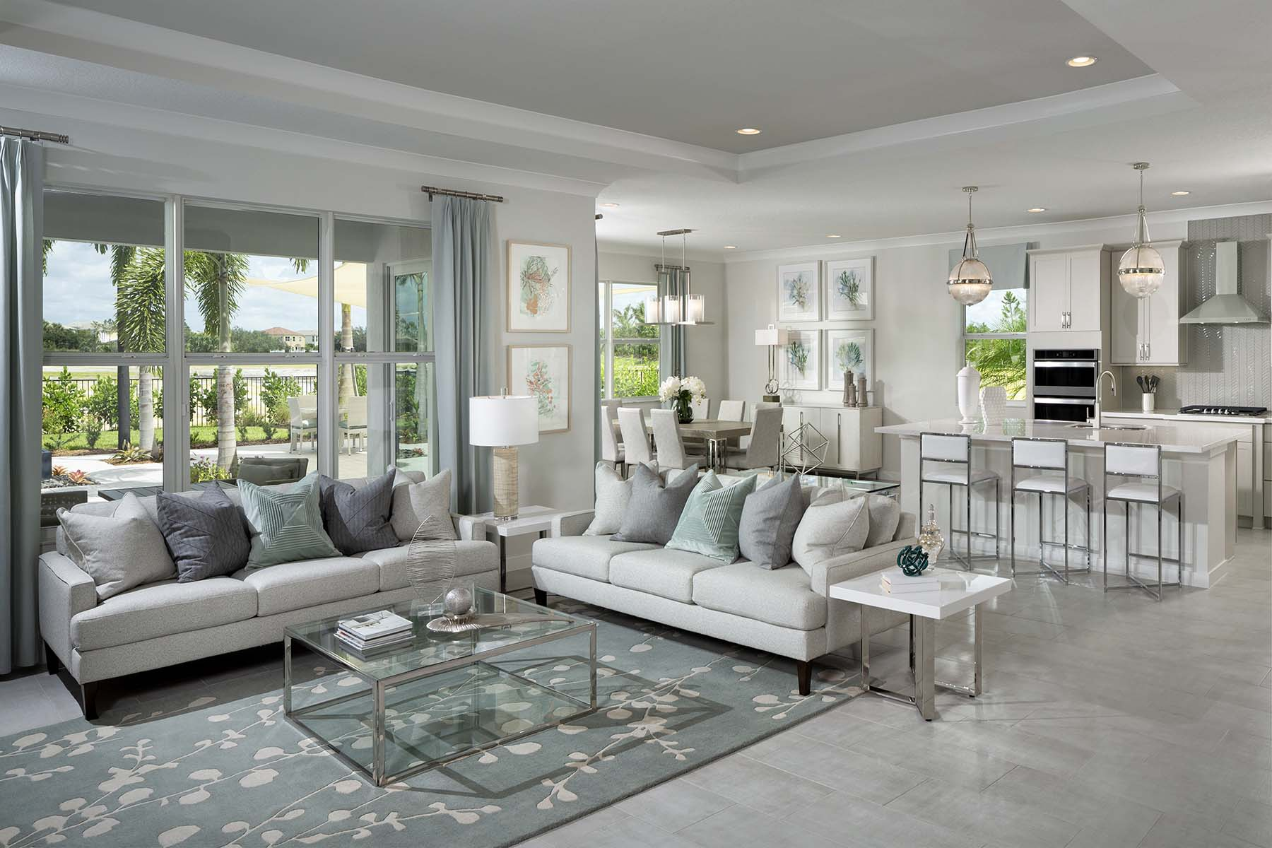 Rowan Plan Greatroom at Tradition - Manderlie in Port St. Lucie Florida by Mattamy Homes