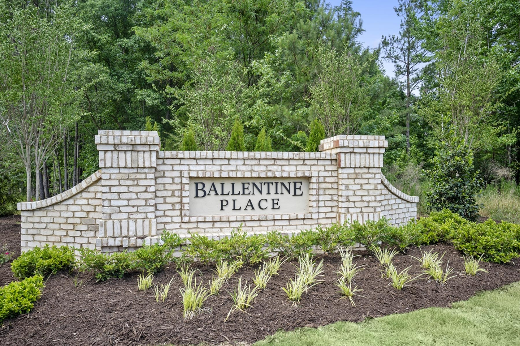 Ballentine Place Monument in Holly Springs North Carolina by Mattamy Homes