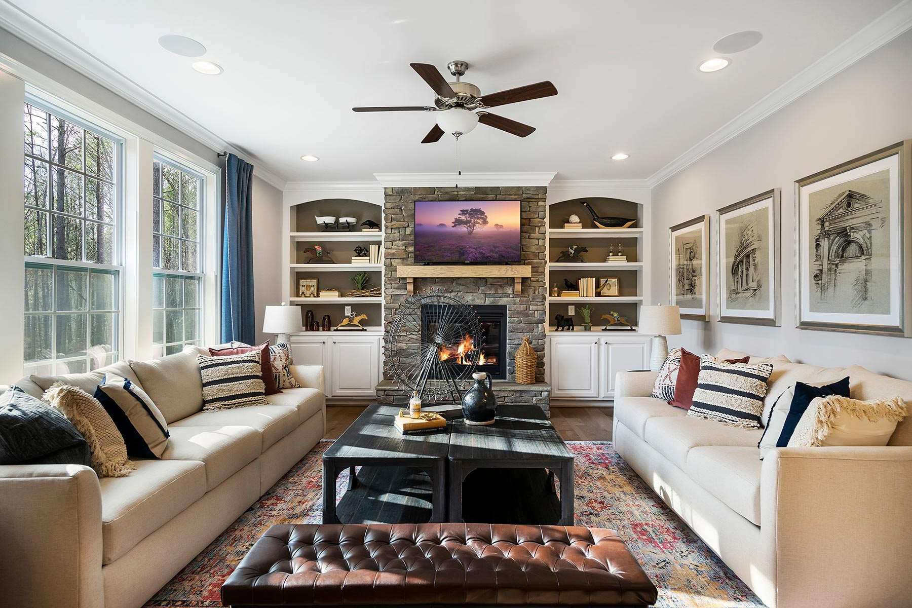 Ballentine Place Greatroom in Holly Springs North Carolina by Mattamy Homes