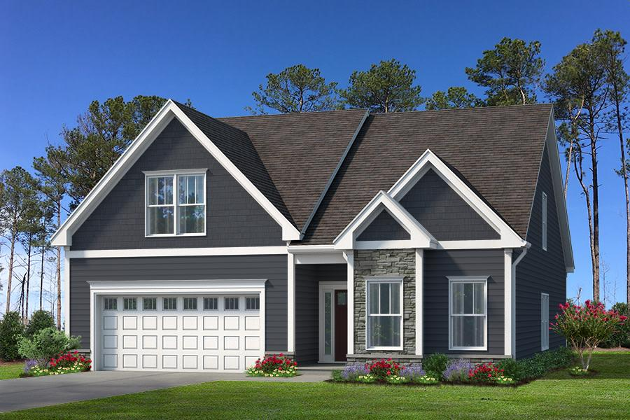 Camden Plan Elevation Front at Ballentine Place in Holly Springs North Carolina by Mattamy Homes