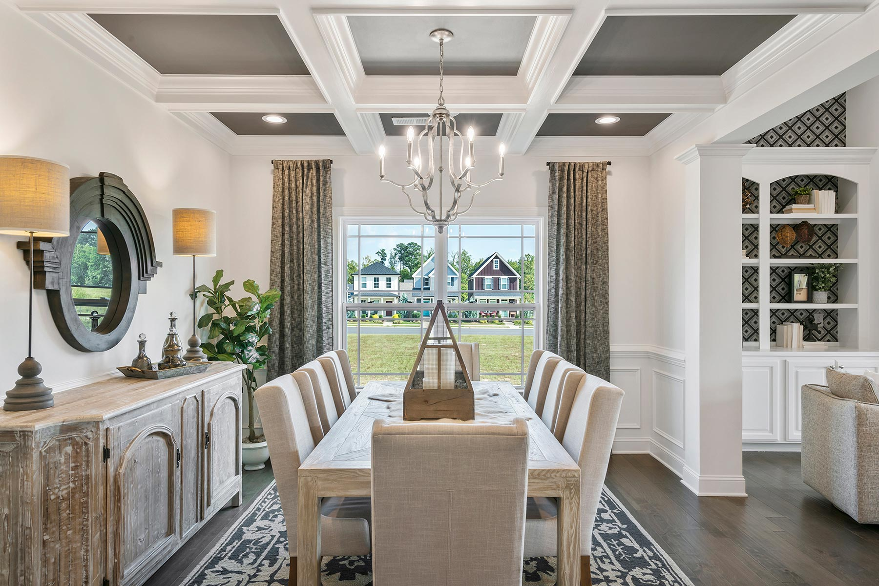 Camden Plan Dining at Ballentine Place in Holly Springs North Carolina by Mattamy Homes