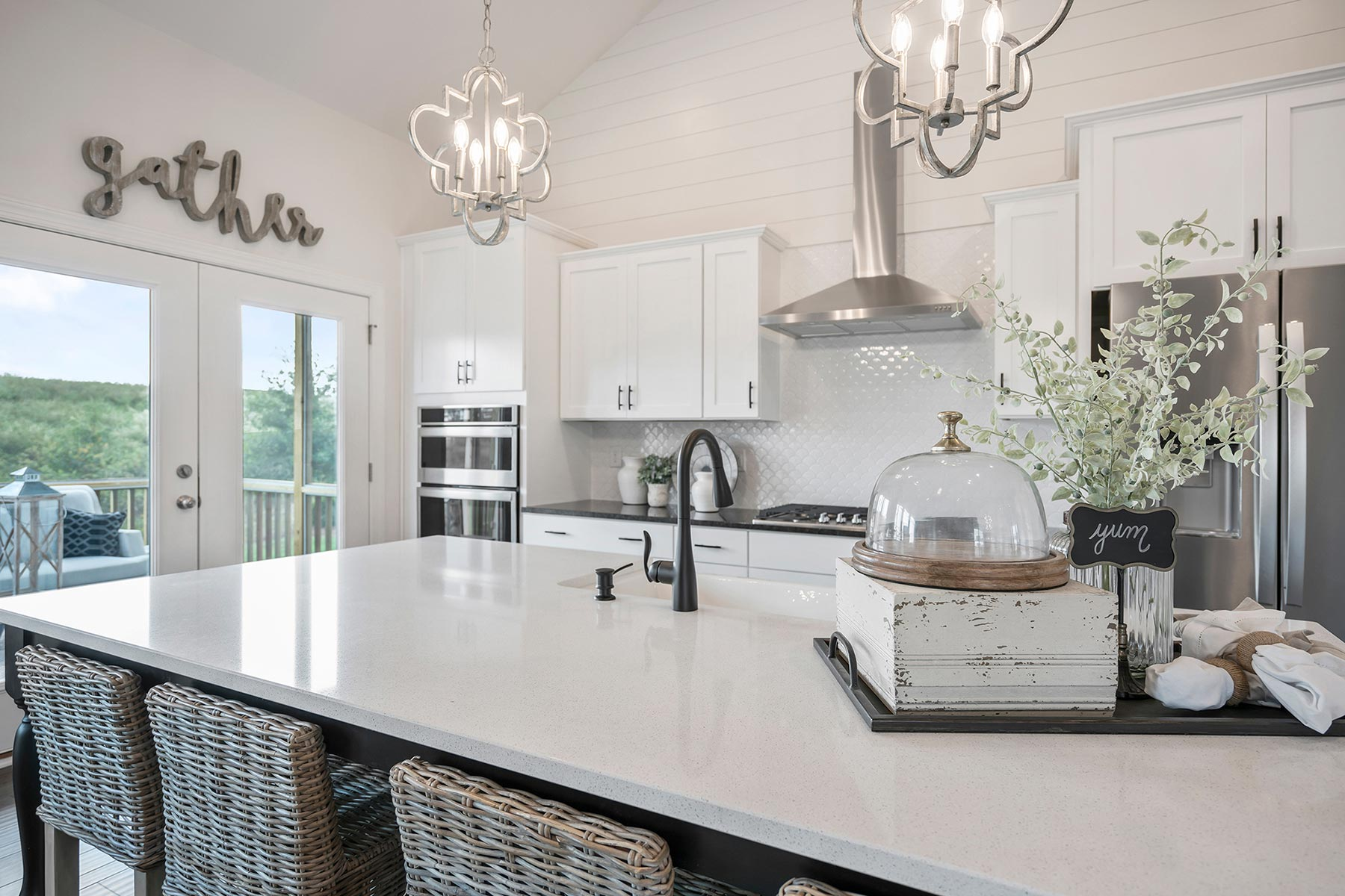 Camden Plan Kitchen at Ballentine Place in Holly Springs North Carolina by Mattamy Homes