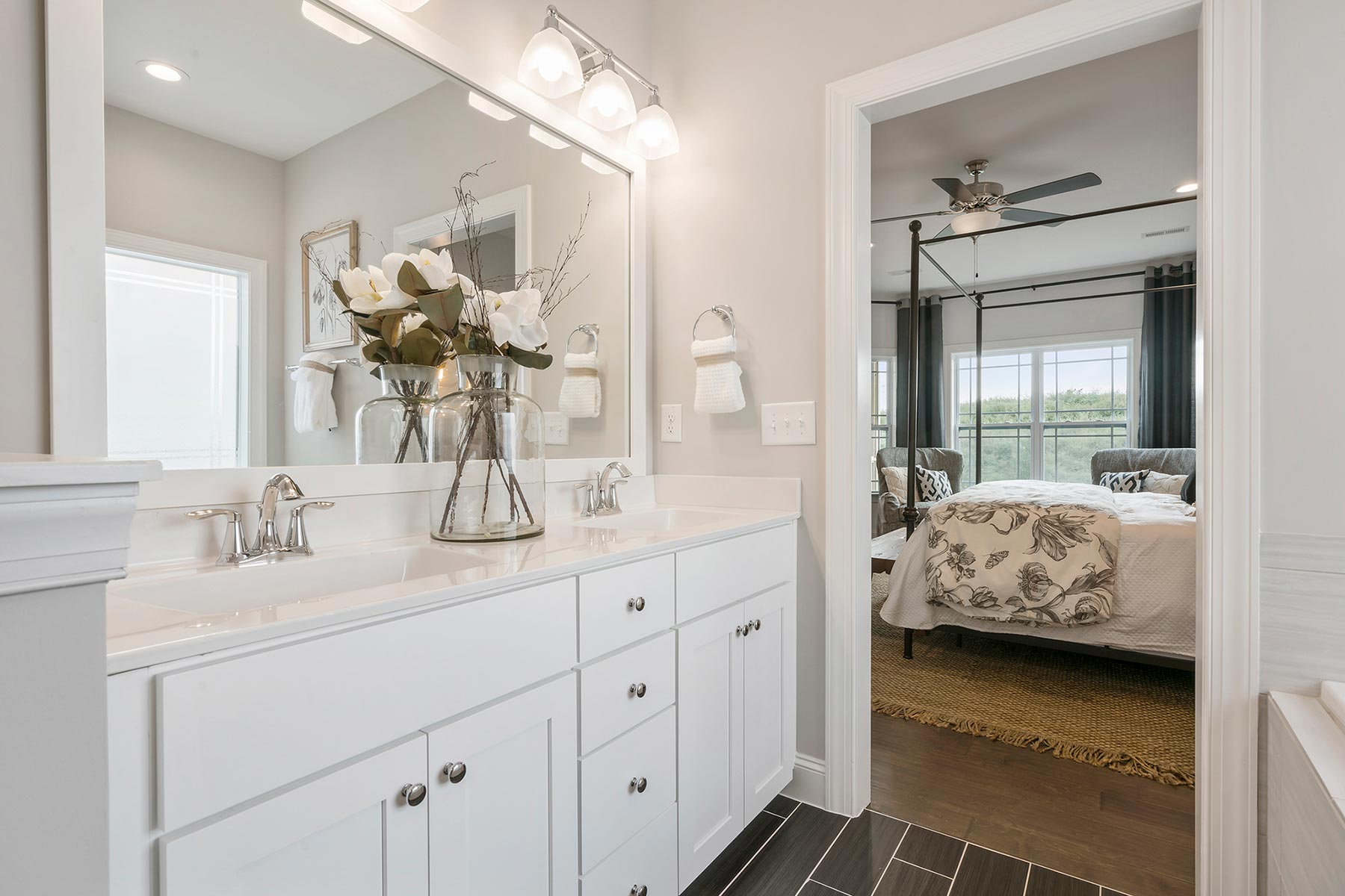 Camden Plan Bathroom_Master Bath at Ballentine Place in Holly Springs North Carolina by Mattamy Homes