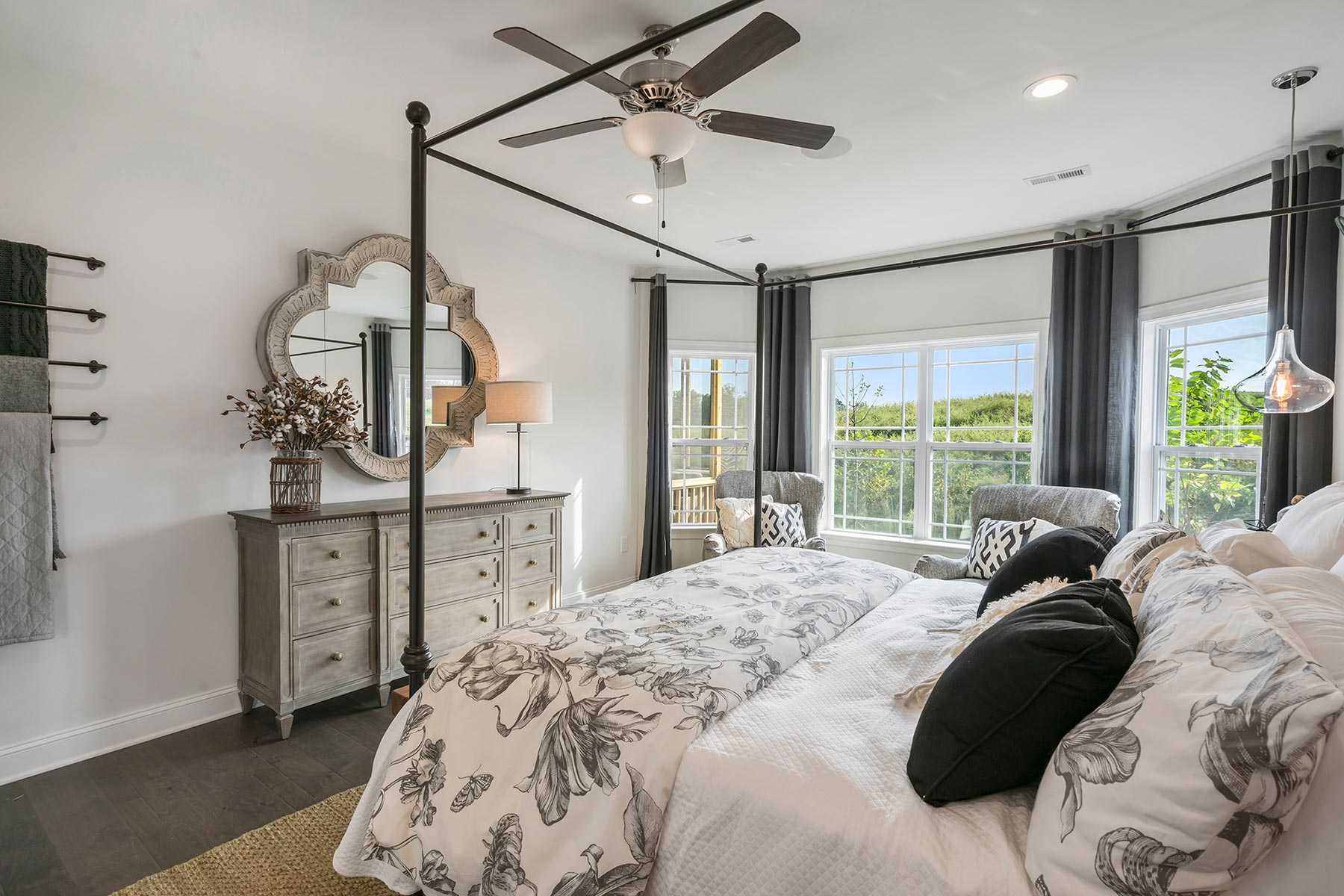 Camden Plan Bedroom at Ballentine Place in Holly Springs North Carolina by Mattamy Homes