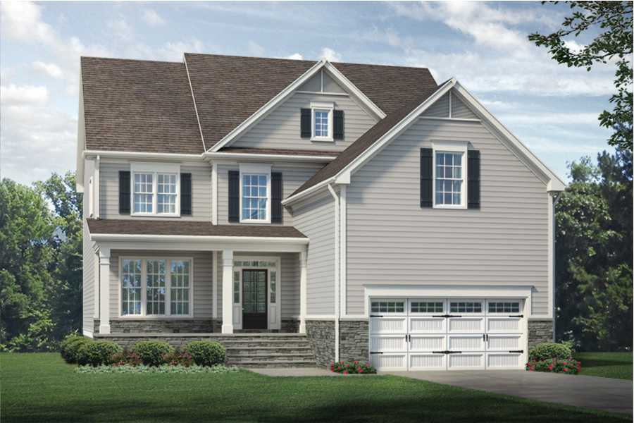 Edenton Plan Elevation Front at Ballentine Place in Holly Springs North Carolina by Mattamy Homes