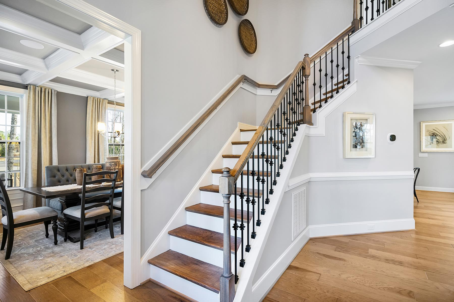 Edenton Plan Stairs at Ballentine Place in Holly Springs North Carolina by Mattamy Homes
