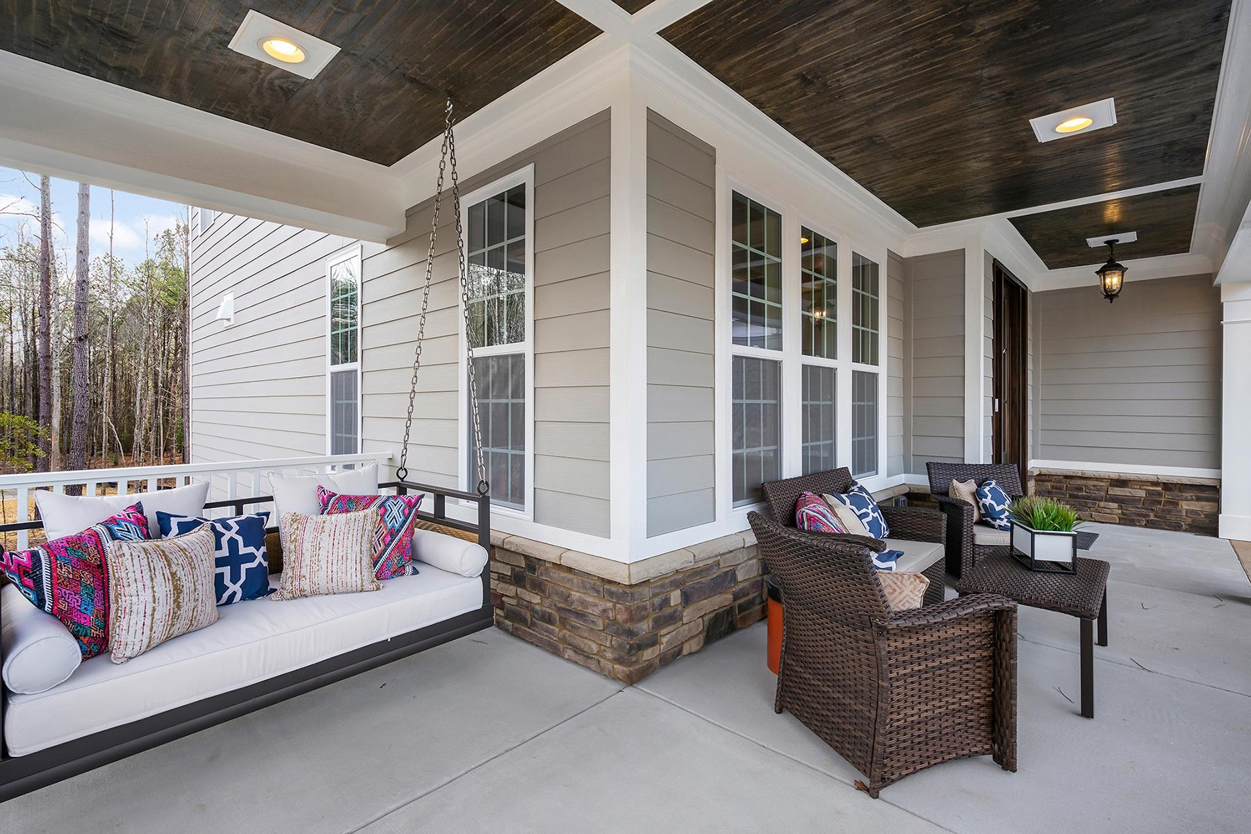 Edenton Plan Front Porch at Ballentine Place in Holly Springs North Carolina by Mattamy Homes