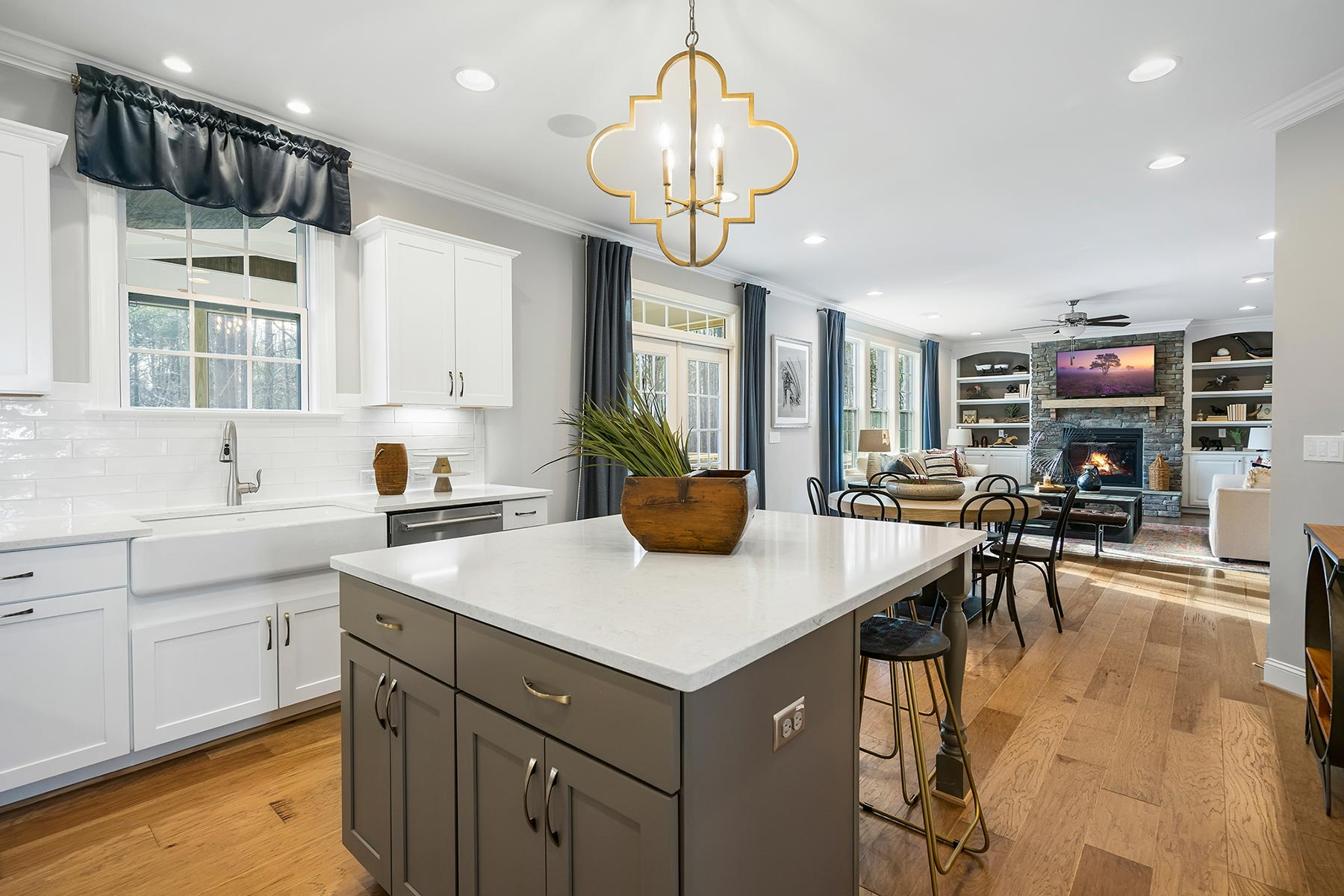 Edenton Plan Kitchen at Ballentine Place in Holly Springs North Carolina by Mattamy Homes