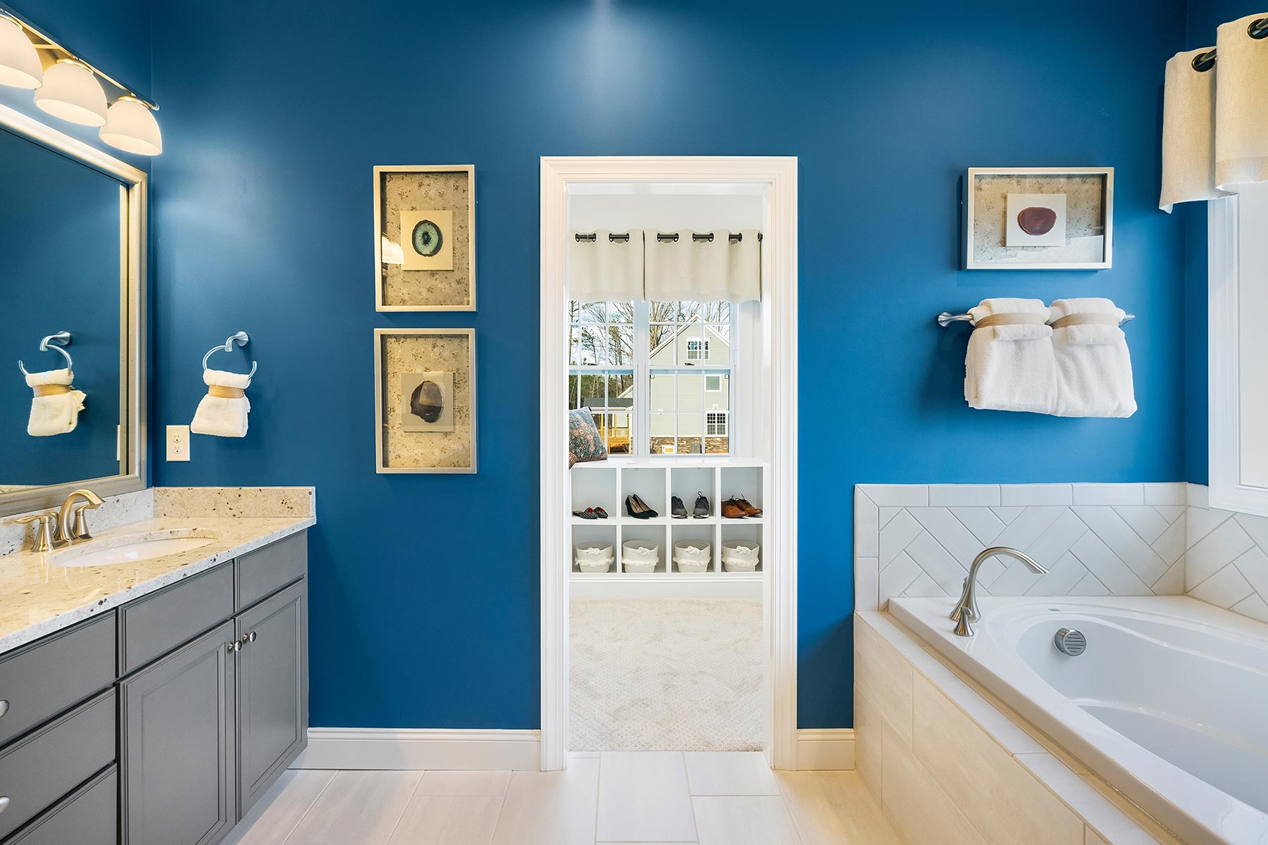 Edenton Plan Bath at Ballentine Place in Holly Springs North Carolina by Mattamy Homes