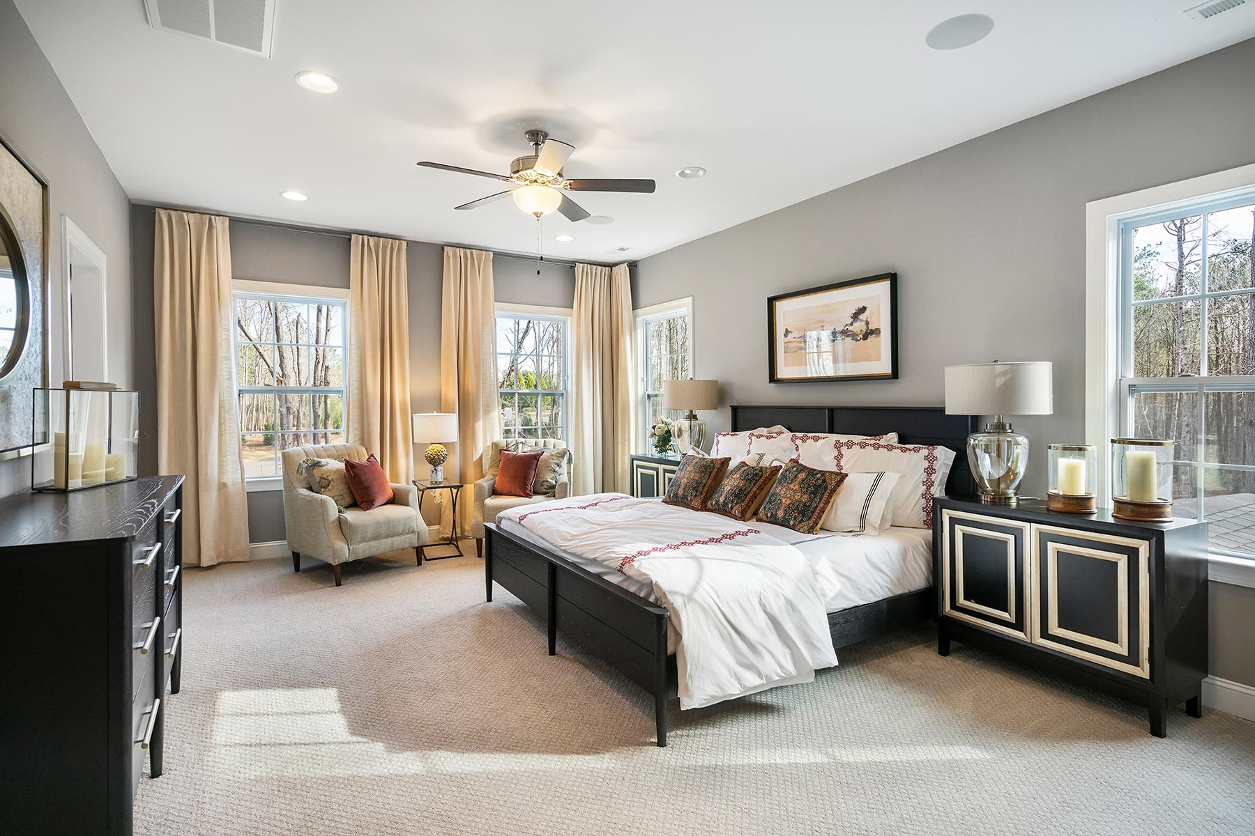 Edenton Plan Bedroom at Ballentine Place in Holly Springs North Carolina by Mattamy Homes