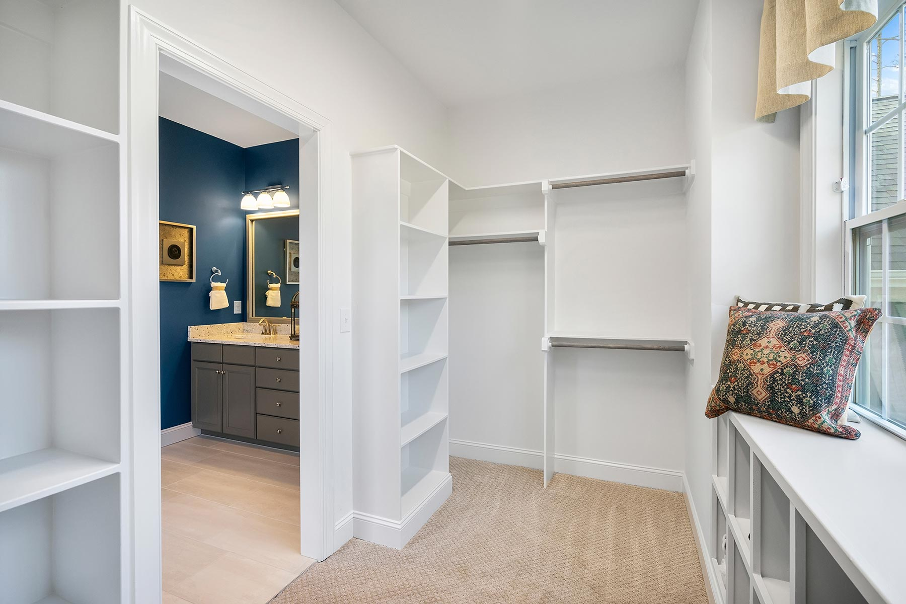 Edenton Plan Closet at Ballentine Place in Holly Springs North Carolina by Mattamy Homes
