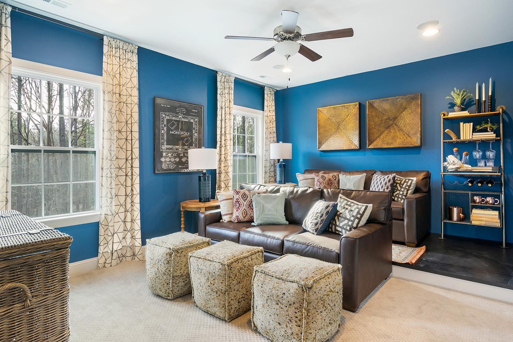 Edenton Plan Media Room at Ballentine Place in Holly Springs North Carolina by Mattamy Homes