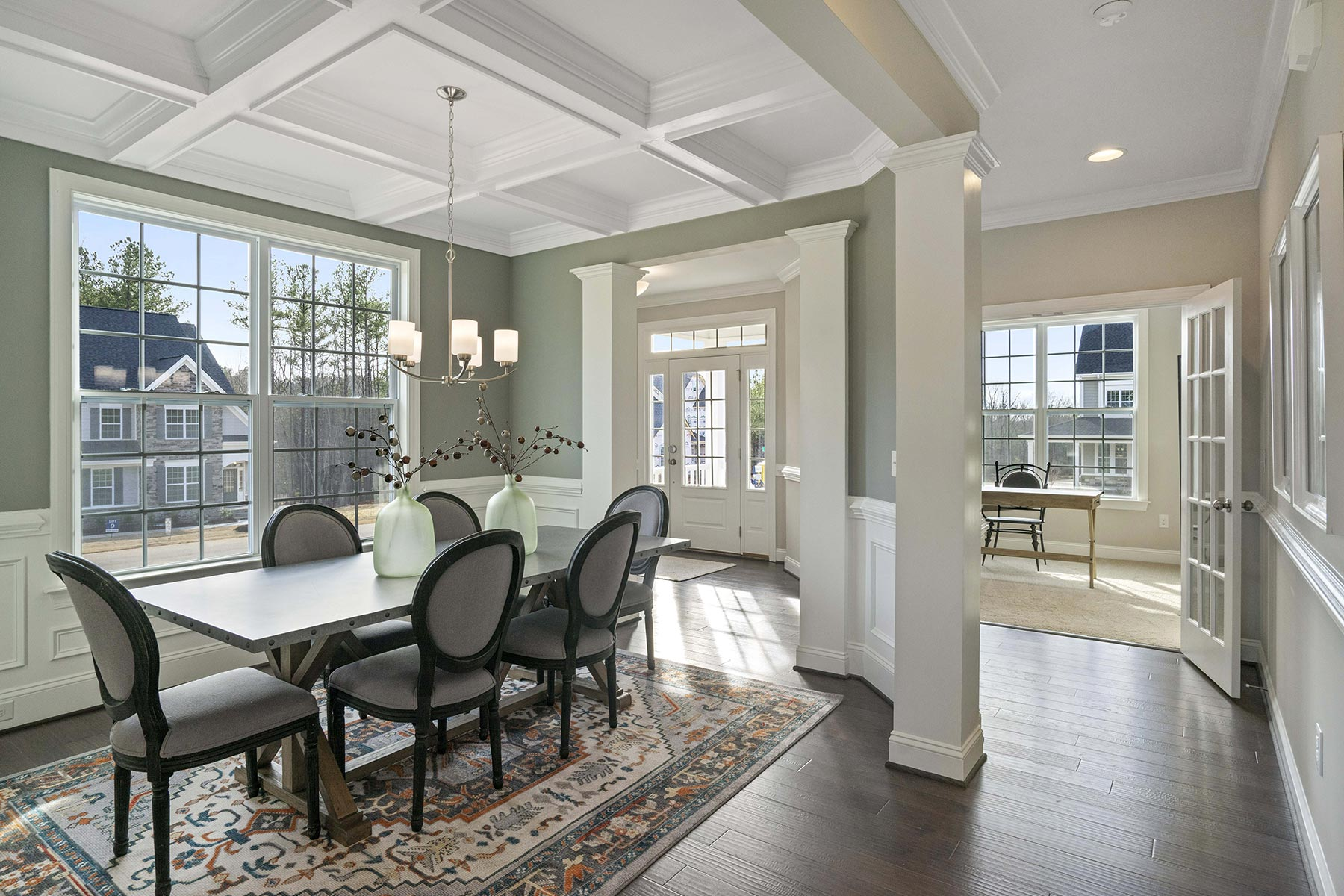 Juniper Plan Dining at Ballentine Place in Holly Springs North Carolina by Mattamy Homes
