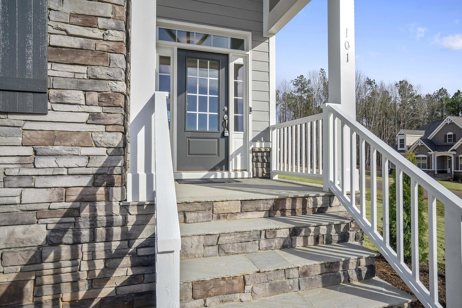 Juniper Plan Front Porch at Ballentine Place in Holly Springs North Carolina by Mattamy Homes