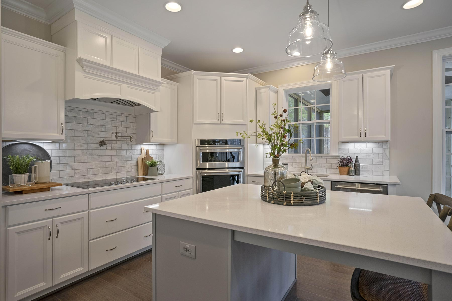 Juniper Plan Kitchen at Ballentine Place in Holly Springs North Carolina by Mattamy Homes