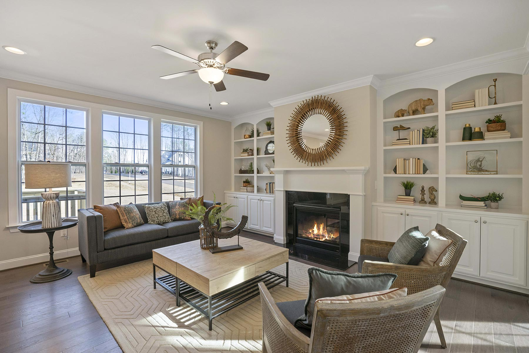 Juniper Plan Greatroom at Ballentine Place in Holly Springs North Carolina by Mattamy Homes