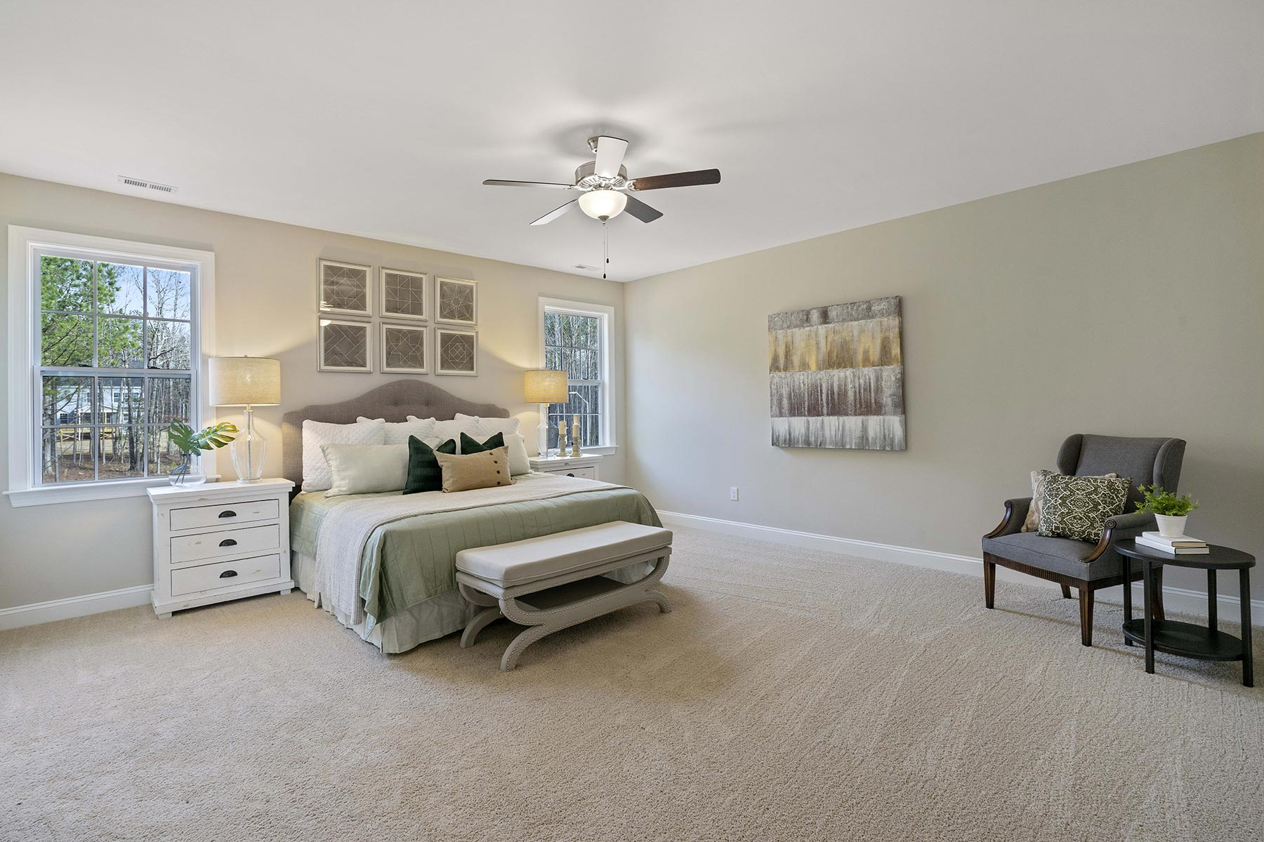Juniper Plan Bedroom at Ballentine Place in Holly Springs North Carolina by Mattamy Homes