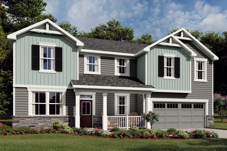 Marshall Plan Elevation Front at Ballentine Place in Holly Springs North Carolina by Mattamy Homes