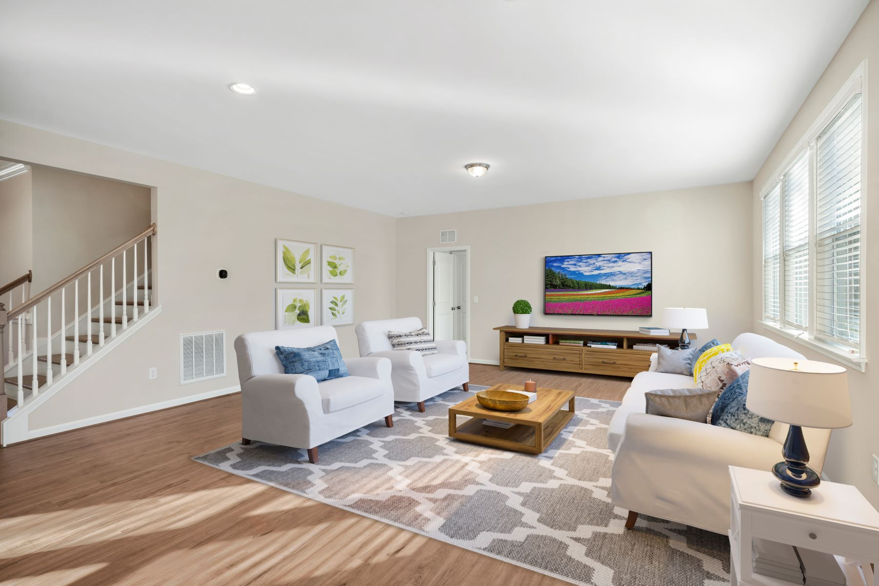 Marshall Plan Greatroom at Ballentine Place in Holly Springs North Carolina by Mattamy Homes