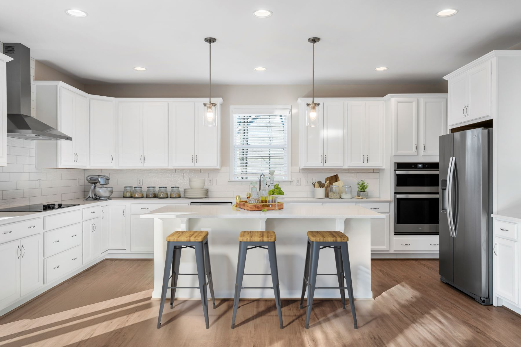 Marshall Plan Kitchen at Ballentine Place in Holly Springs North Carolina by Mattamy Homes