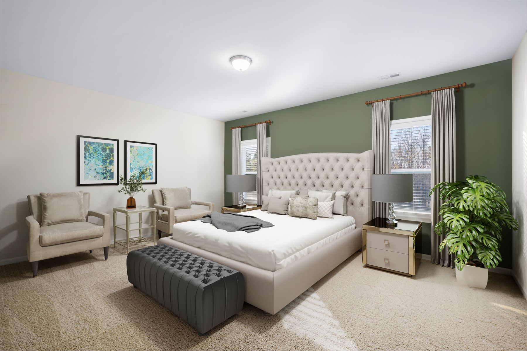 Marshall Plan Bedroom at Ballentine Place in Holly Springs North Carolina by Mattamy Homes