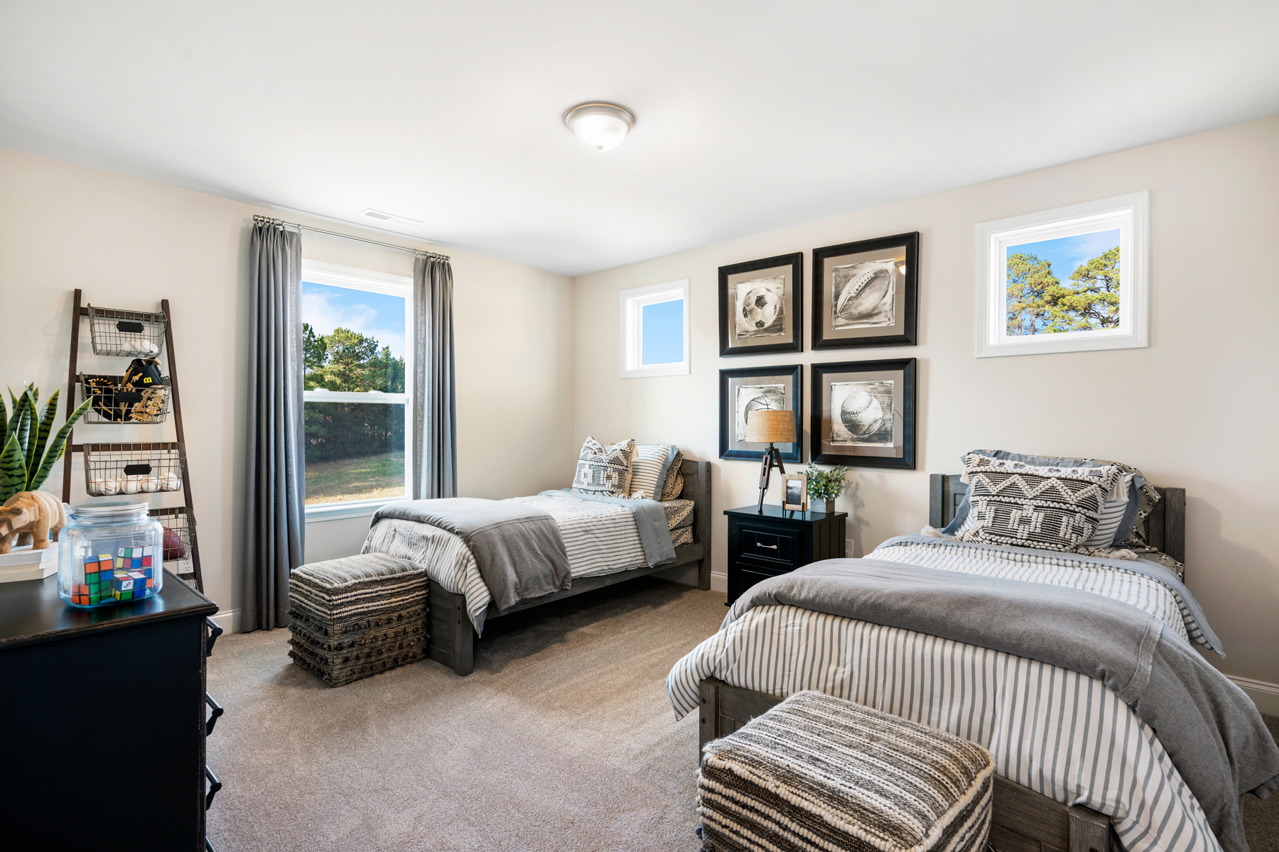 Parker Plan Bedroom at Ballentine Place in Holly Springs North Carolina by Mattamy Homes