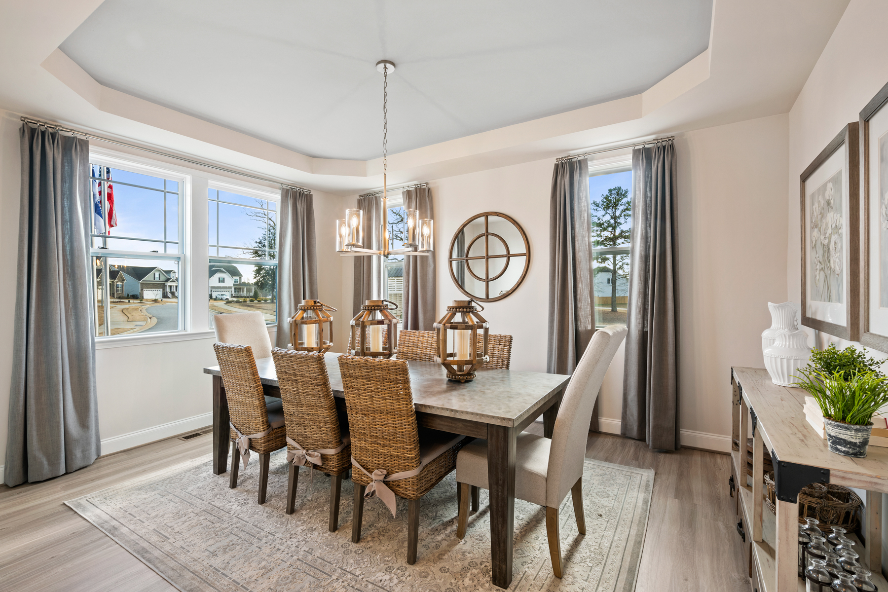 Parker Plan Dining at Ballentine Place in Holly Springs North Carolina by Mattamy Homes