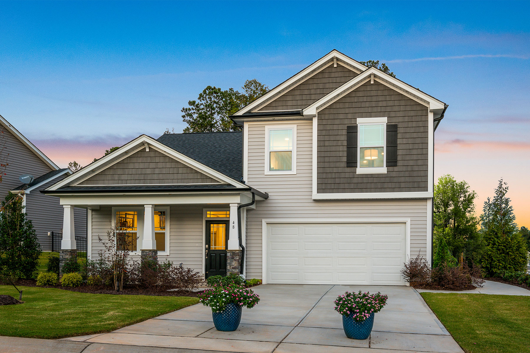 Bedford at Flowers Plantation Elevation Front in Clayton North Carolina by Mattamy Homes
