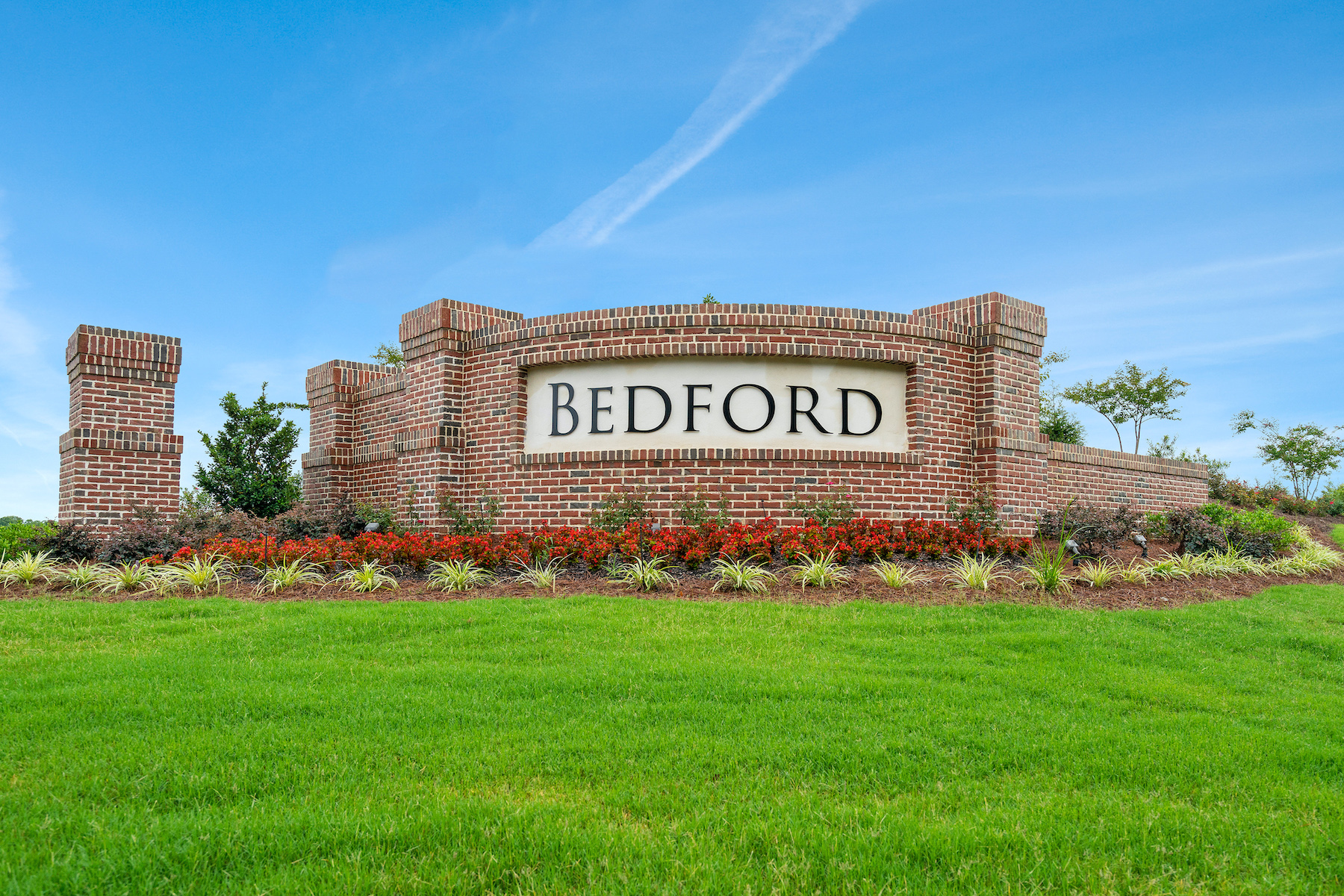 Bedford at Flowers Plantation Monument in Clayton North Carolina by Mattamy Homes