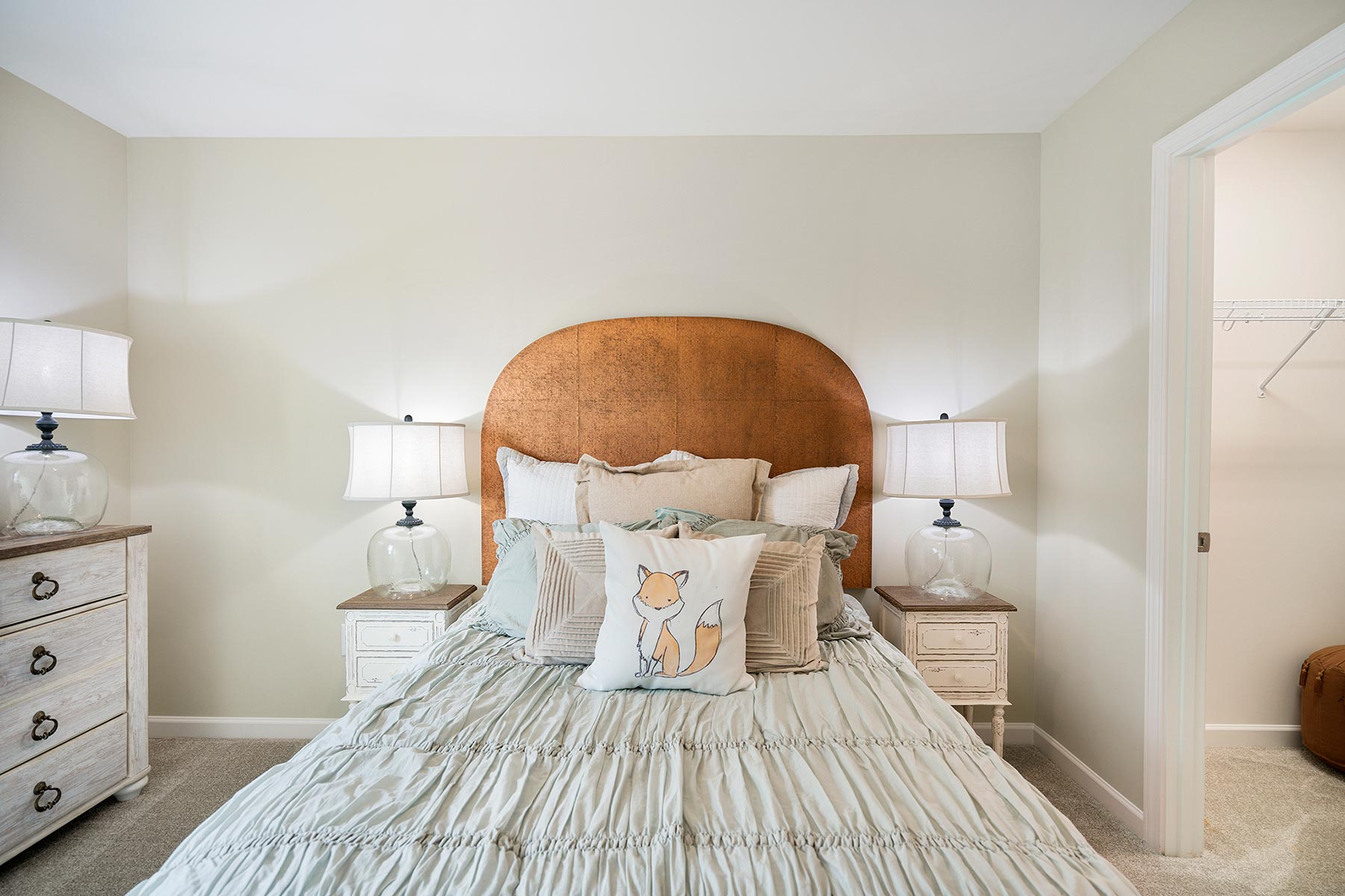 Amelia Plan Bedroom at Briar Gate in Fuquay-Varina North Carolina by Mattamy Homes