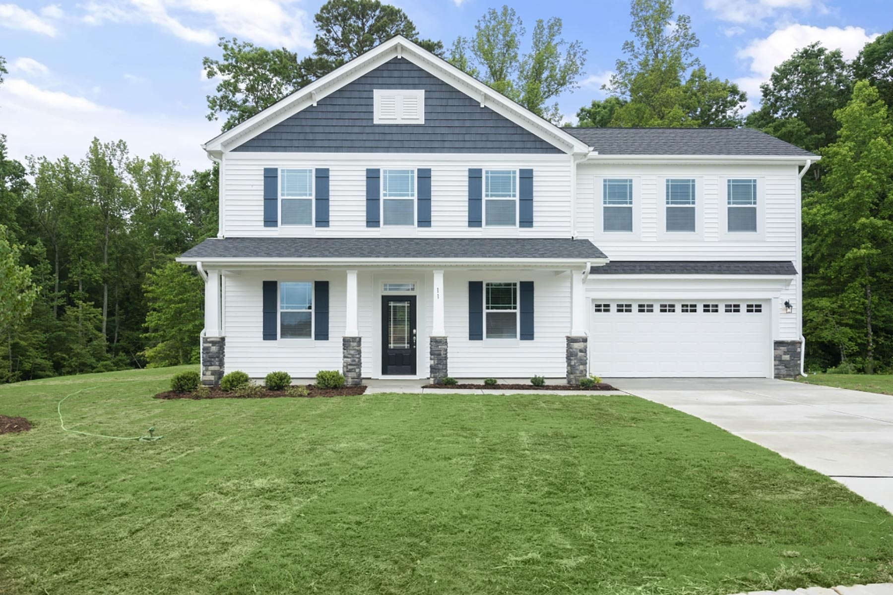 Cameron Plan Elevation Front at Bedford at Flowers Plantation in Clayton North Carolina by Mattamy Homes