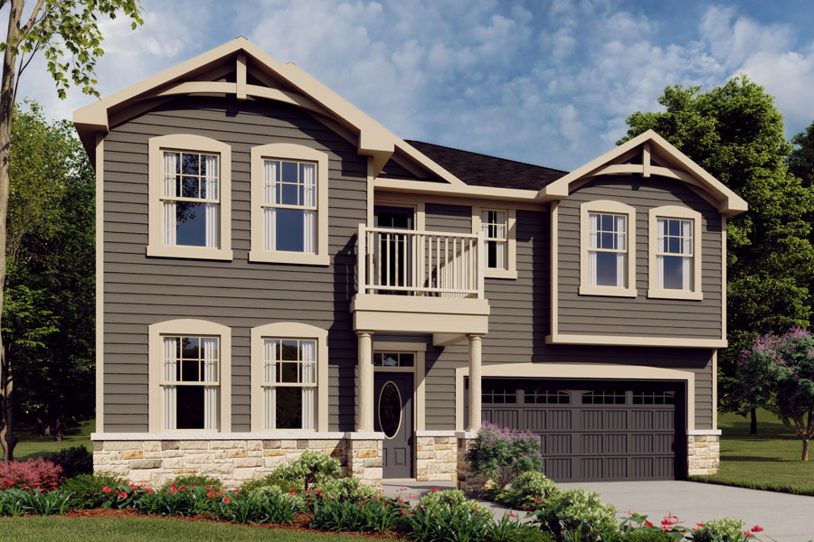 Gaines Plan Elevation Front at Bedford at Flowers Plantation in Clayton North Carolina by Mattamy Homes