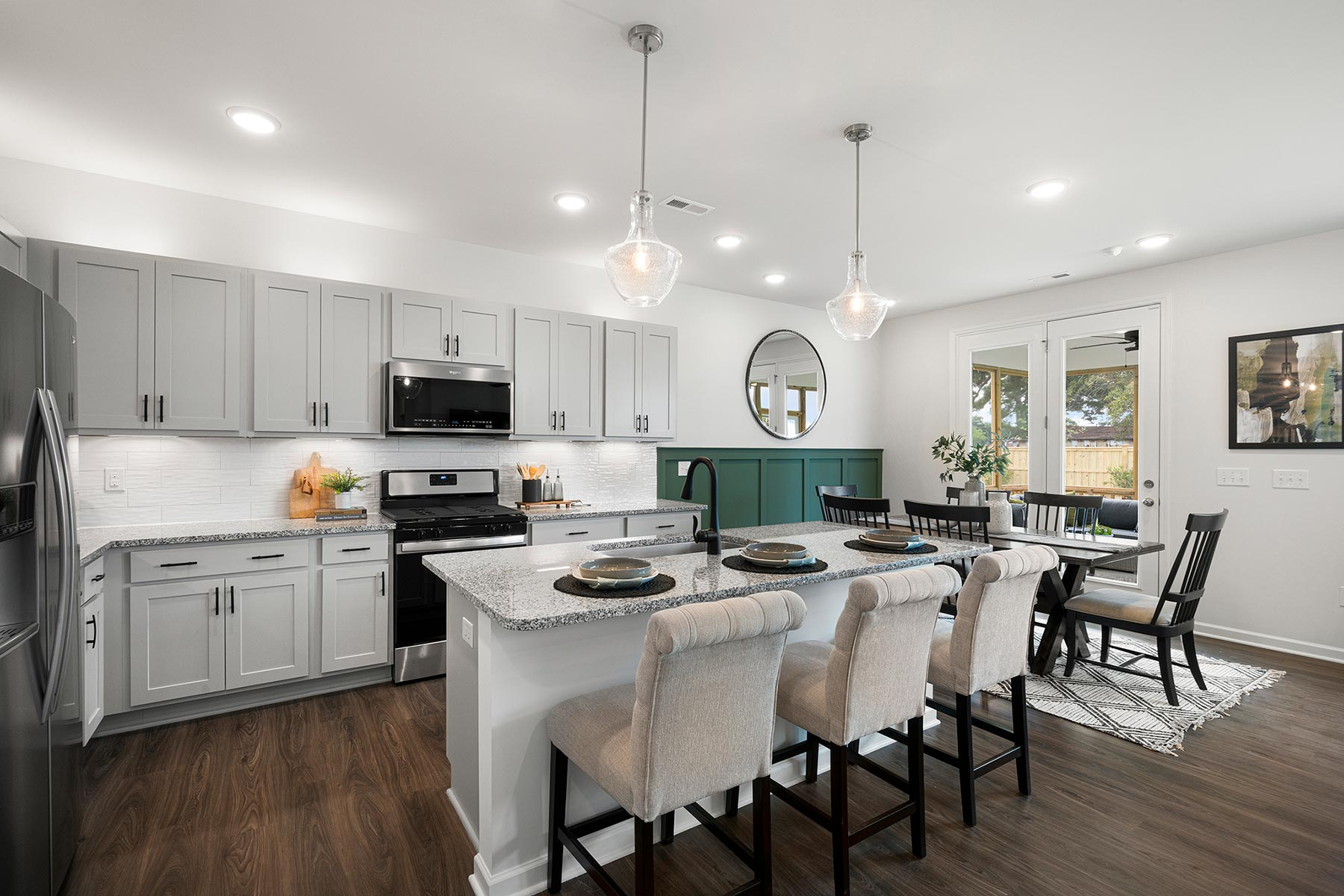 Gaines Plan Kitchen at Bedford at Flowers Plantation in Clayton North Carolina by Mattamy Homes