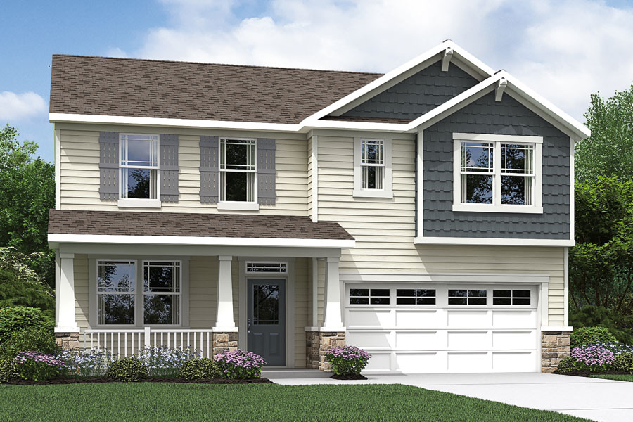 Briar Gate Elevation Front in Fuquay-Varina North Carolina by Mattamy Homes