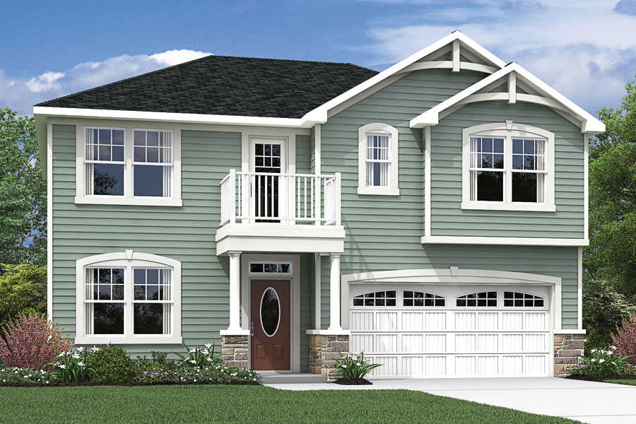 Harper Plan Elevation Front at Bedford at Flowers Plantation in Clayton North Carolina by Mattamy Homes