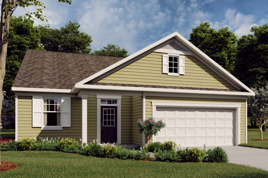 Harrison II Plan Elevation Front at Bedford at Flowers Plantation in Clayton North Carolina by Mattamy Homes