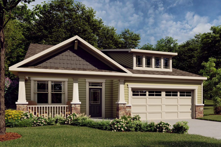 Evelyn Plan Elevation Front at Bedford at Flowers Plantation in Clayton North Carolina by Mattamy Homes