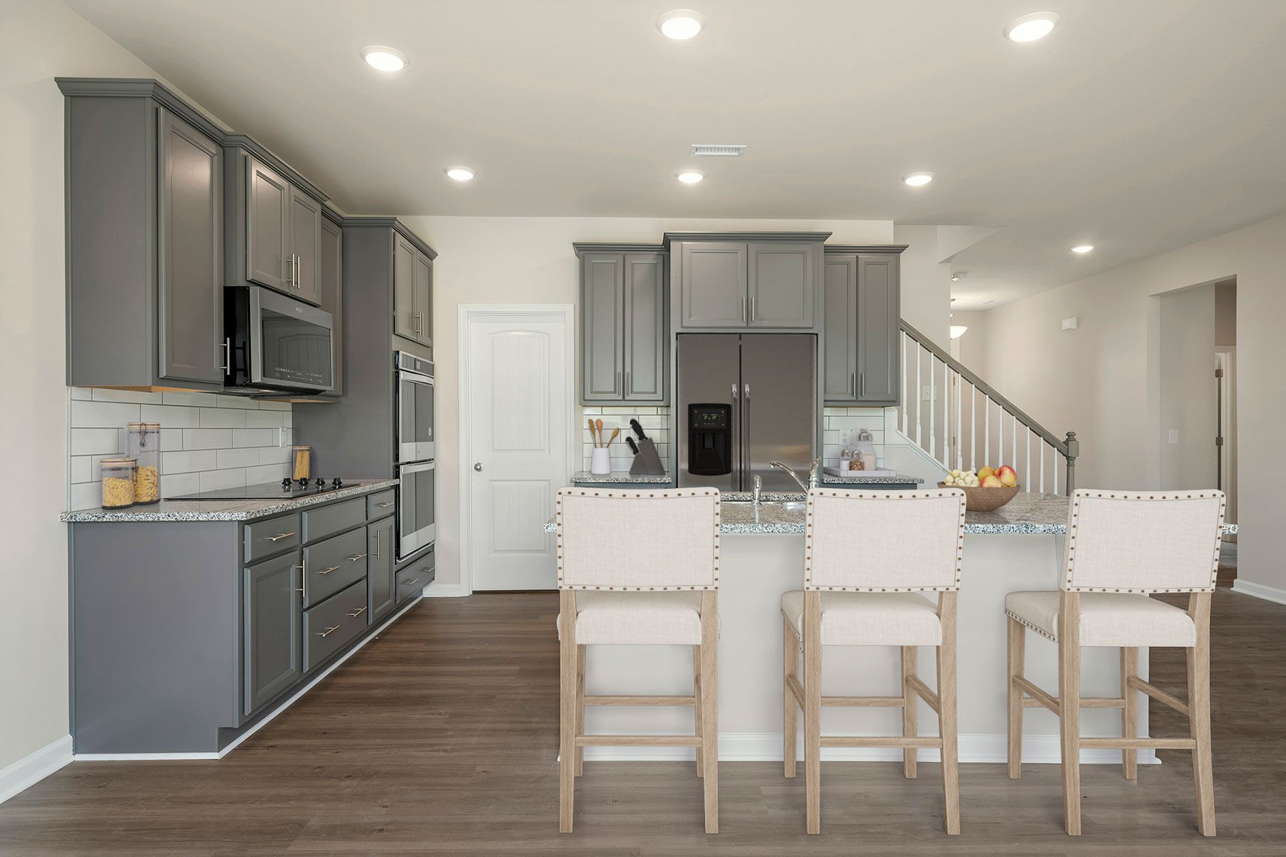 Kendall Plan Kitchen at Bedford at Flowers Plantation in Clayton North Carolina by Mattamy Homes