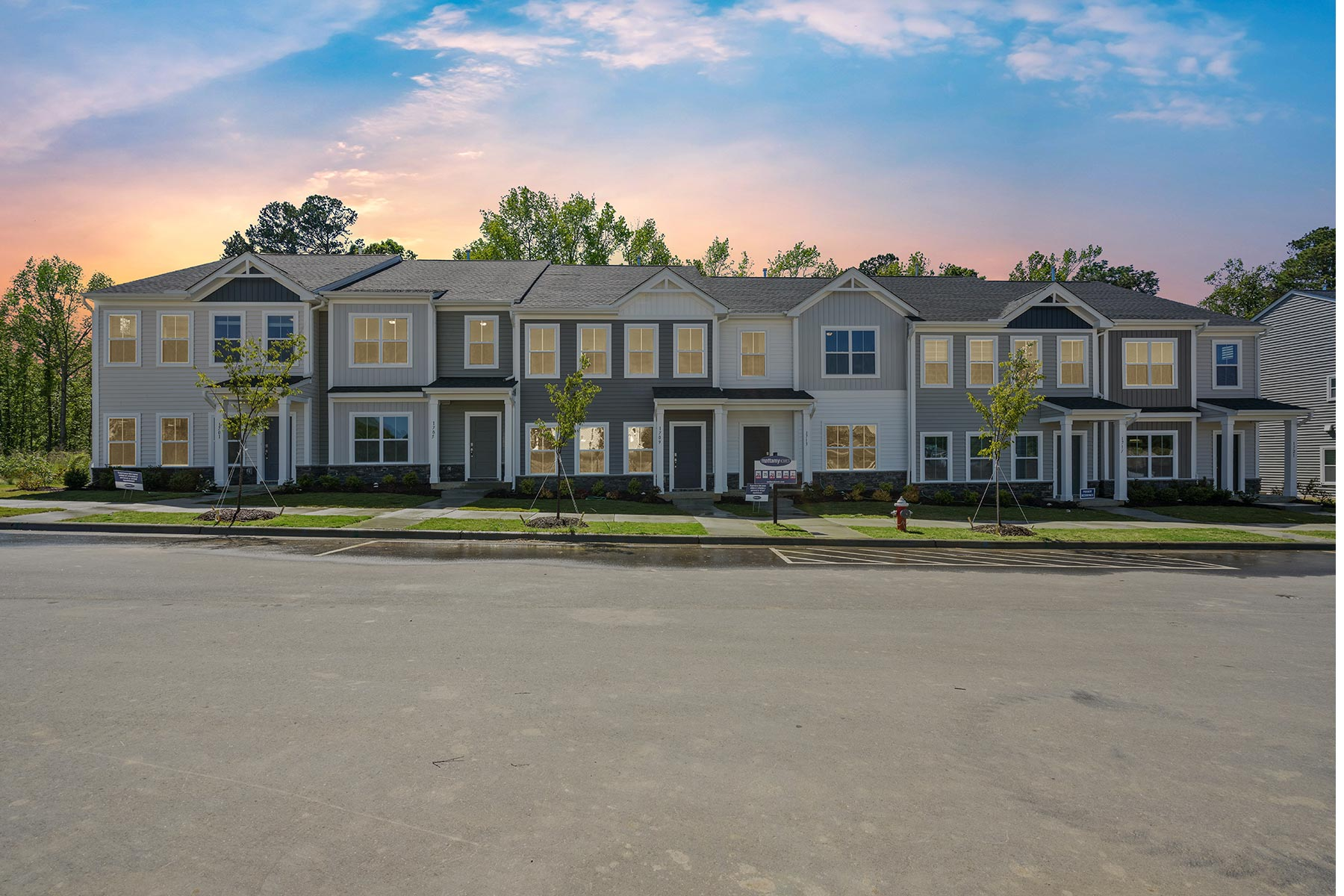Bengal Townes Elevation Front in Fuquay-Varina North Carolina by Mattamy Homes