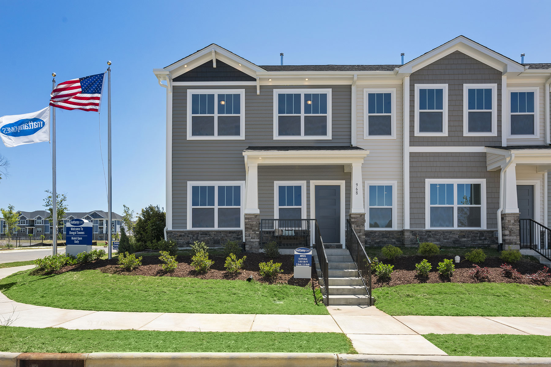 Bengal Townes rdu_the-ansel_btc_exterior2 in Fuquay-Varina North Carolina by Mattamy Homes