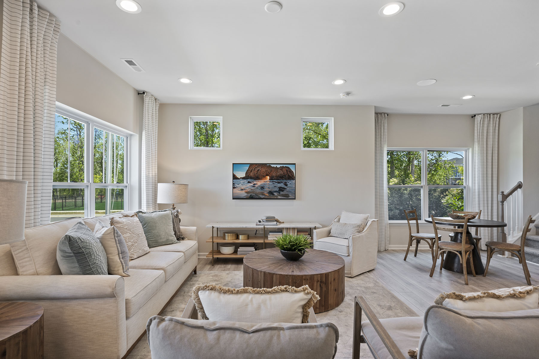 Ansel Plan Greatroom at Bengal Townes in Fuquay-Varina North Carolina by Mattamy Homes