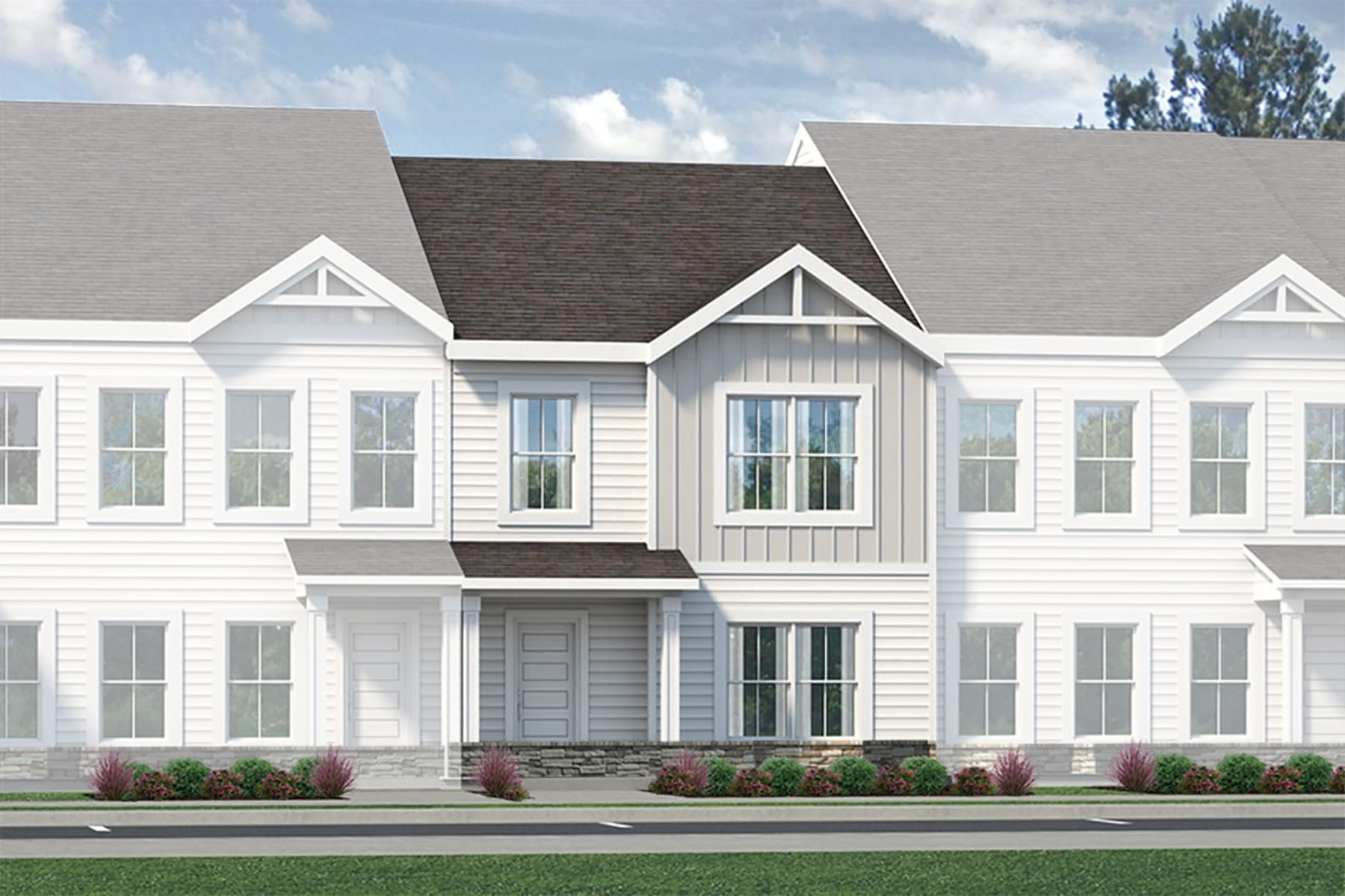 Osborn Plan TownHomes at Bengal Townes in Fuquay-Varina North Carolina by Mattamy Homes