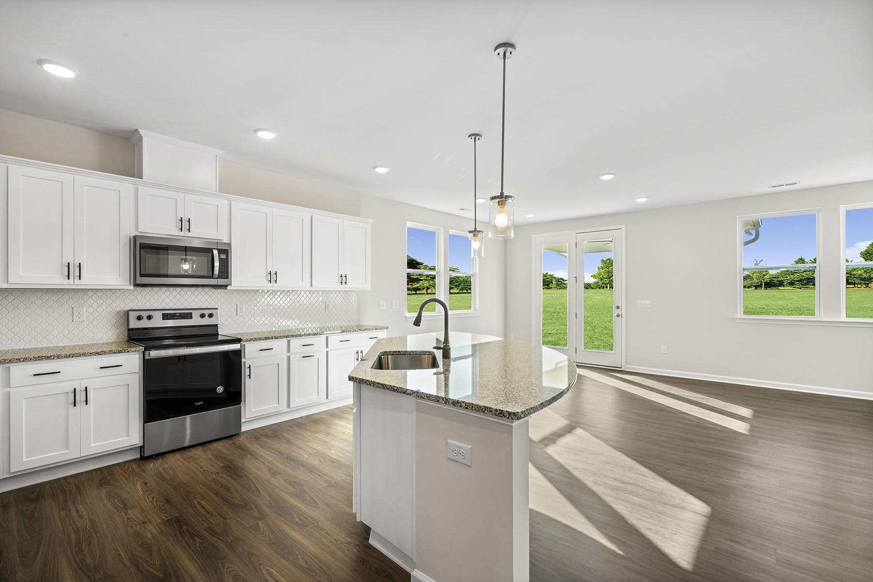 Pierce Plan Kitchen at Bent Tree in Fuquay-Varina North Carolina by Mattamy Homes