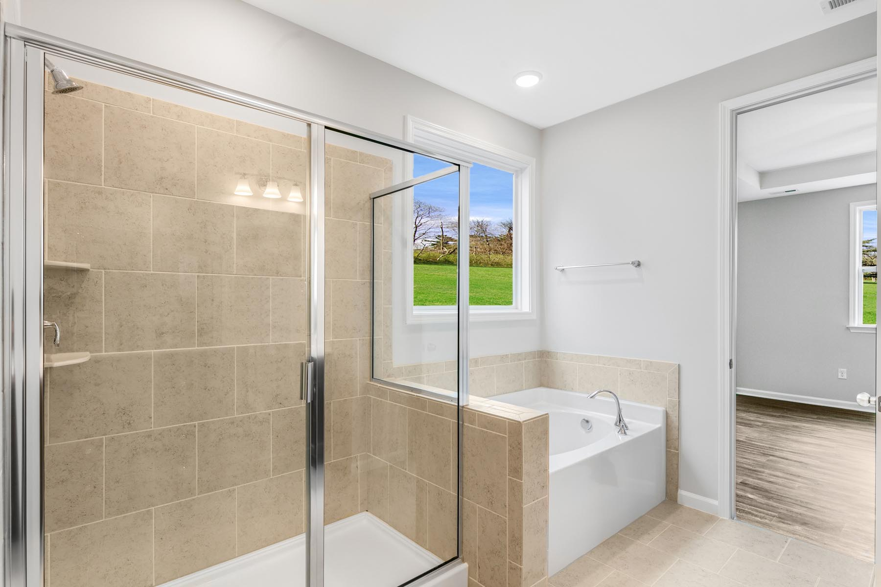 Pierce Plan Bathroom_Master Bath at Bent Tree in Fuquay-Varina North Carolina by Mattamy Homes