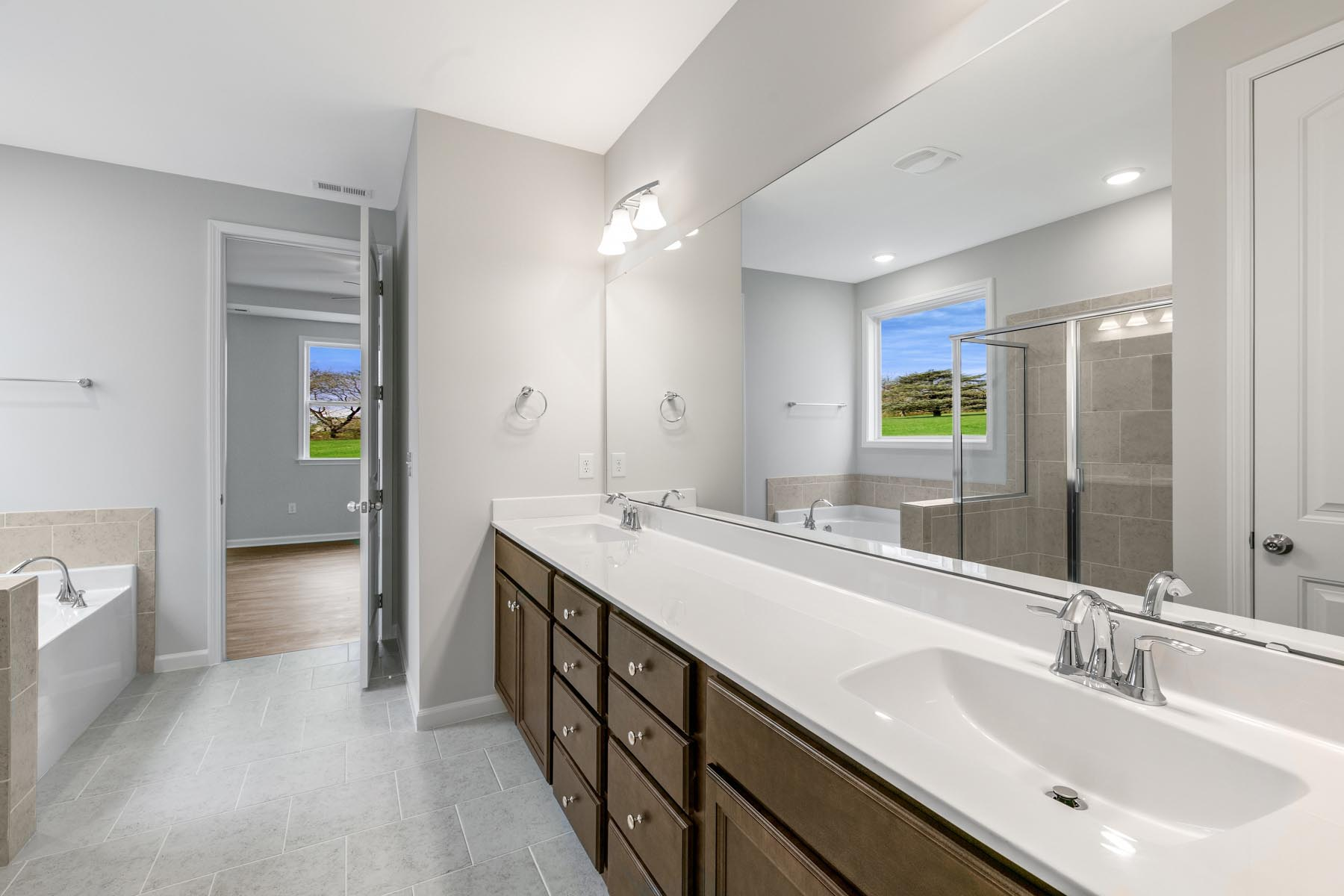 Pierce Plan Bath at Bent Tree in Fuquay-Varina North Carolina by Mattamy Homes