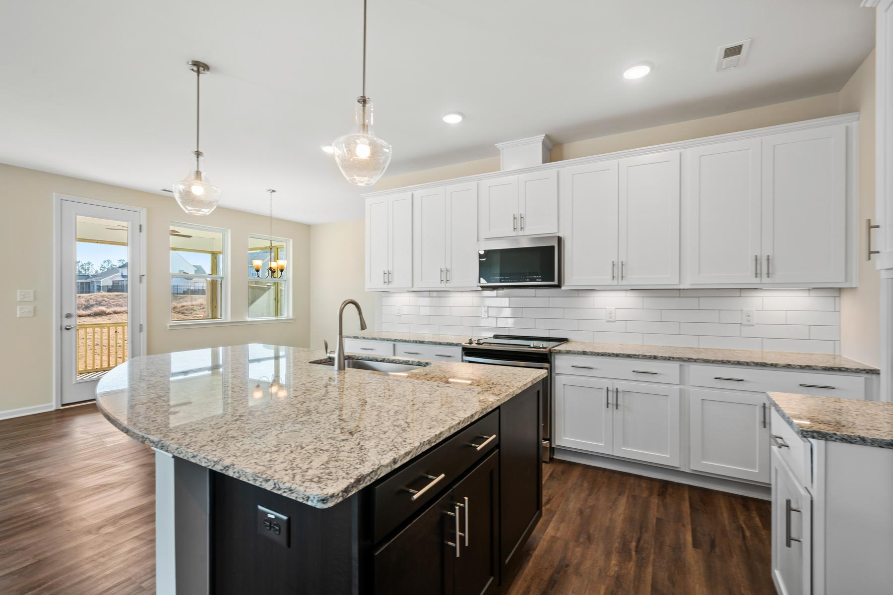 Decker Plan Kitchen at Bent Tree in Fuquay-Varina North Carolina by Mattamy Homes
