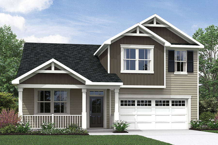 Amelia Plan Elevation Front at Briar Gate in Fuquay-Varina North Carolina by Mattamy Homes